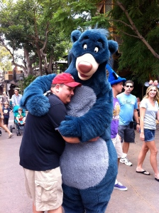Then he found Baloo and hugged him too!