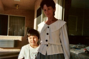 Mom and Mikey, just after moving to California.